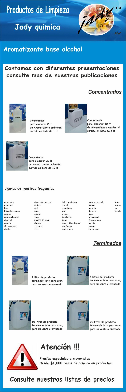 Aromatizantes concentrado p 2 lt base alcohol limpieza - Alcohol de limpieza ...